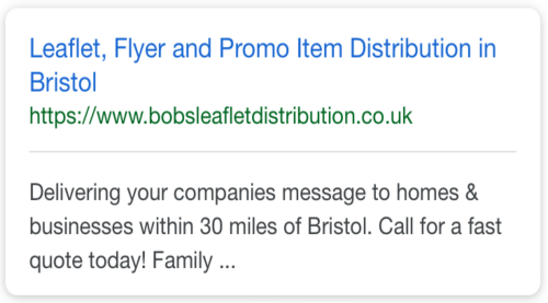 Example SEO Work in Bristol